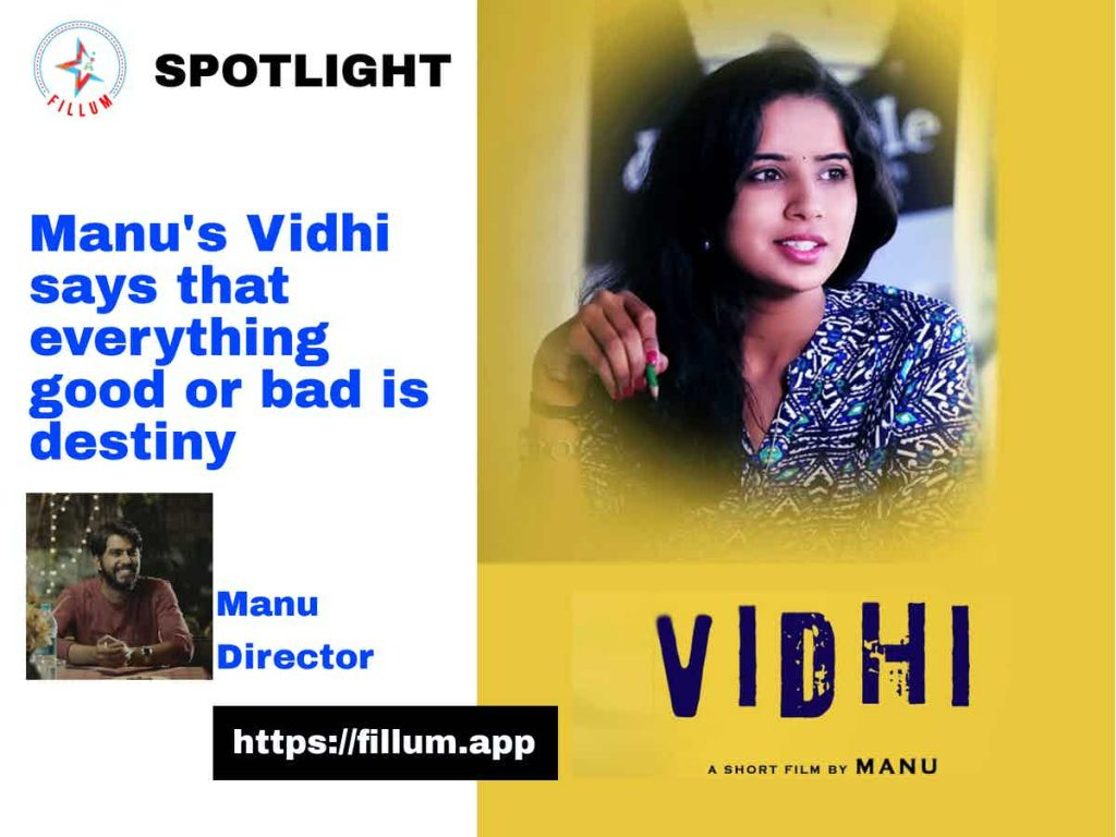 Manu's Vidhi says that everything good or bad is destiny
